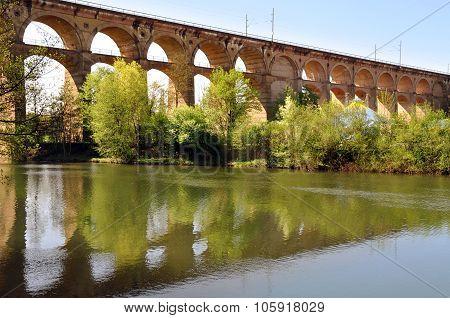 Old viaduct in Bietigheim, Germany