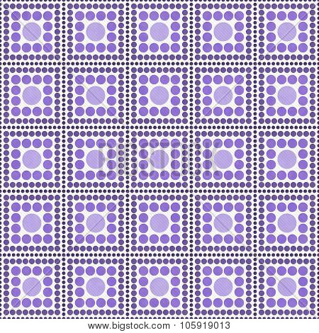 Purple And White Polka Dot Square Abstract Design Tile Pattern Repeat Background