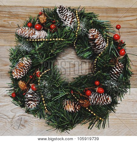 Christmas Decoration With Pinecones