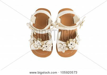 Toddler Sandals Isolated On White