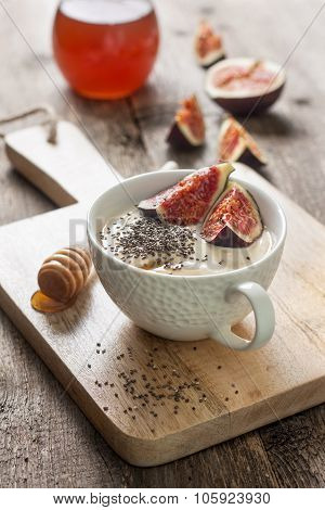 Yogurt With Pieces Of Fig