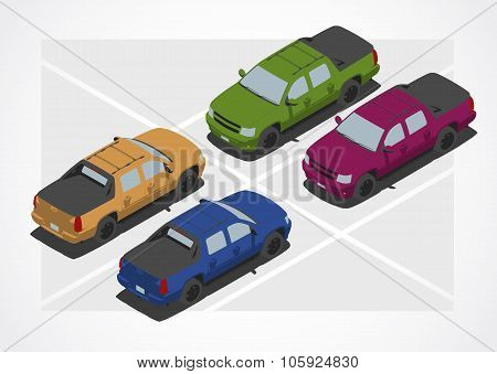 Pickup car for Isometric world