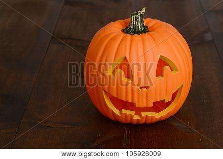 Plastic halloween pumpkin decoration