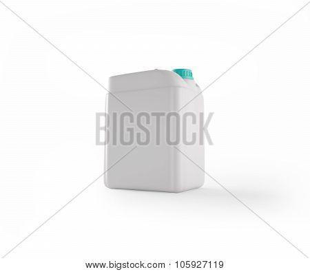 White Plastic Jerrycan