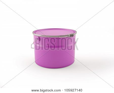 3D Illustration Of Purple Can Of Paint With The Handle