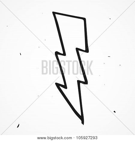 Lightning bolt hand drawn