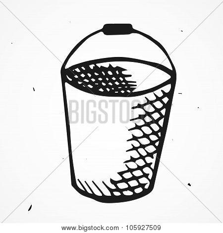 Old bucket cartoon