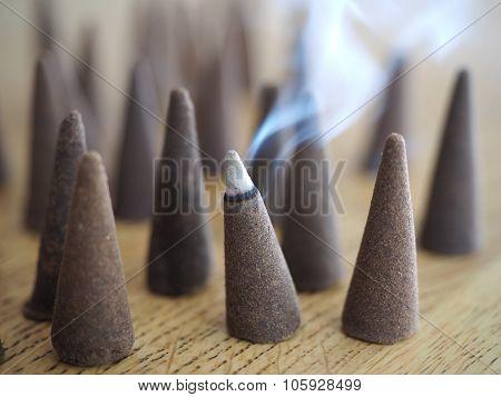 Incense cone smoking