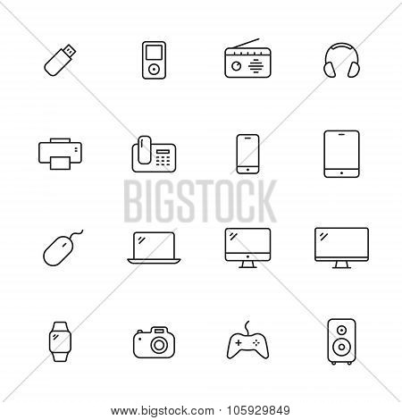 Devices Line Icons