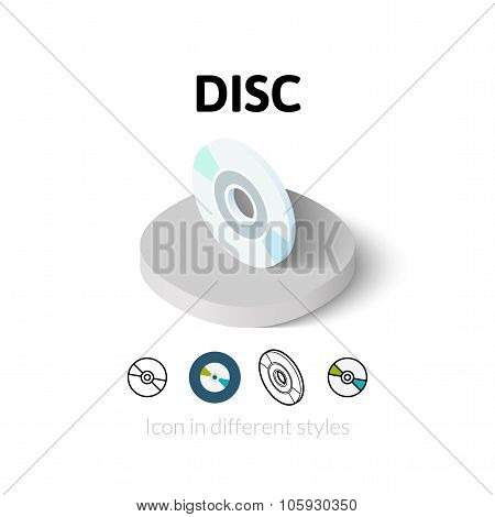 Disc icon in different style
