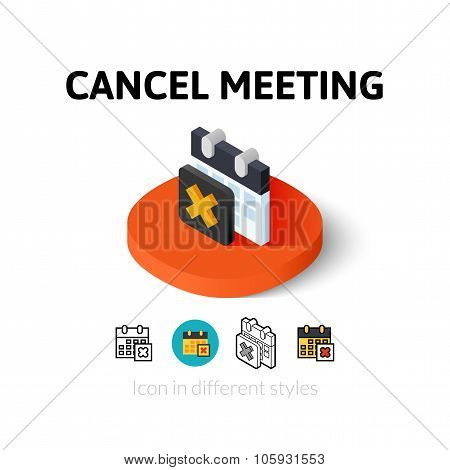 Cancel meeting icon in different style