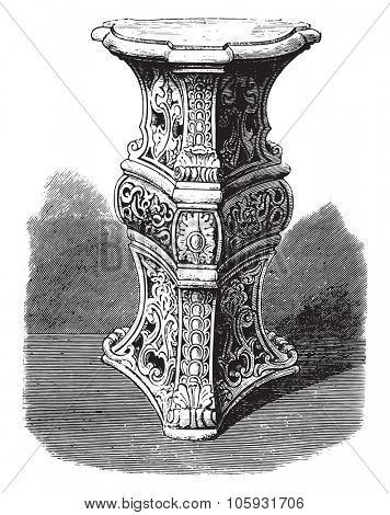 Earthenware of Bellevue, modern manufacturing, vintage engraved illustration. Magasin Pittoresque 1877.