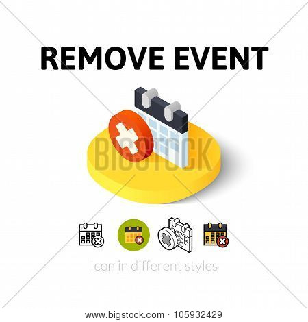 Remove event icon in different style