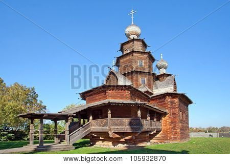 Wooden Church Of Ressurection In Suzdal, Russia.
