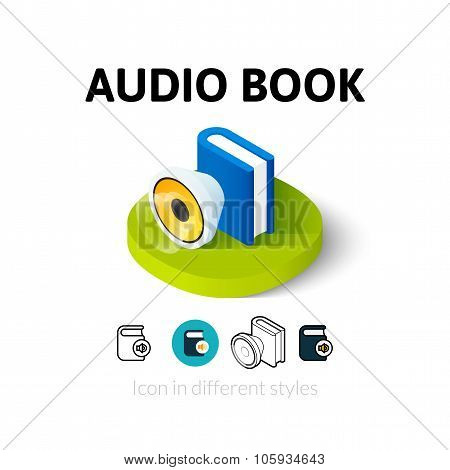Audio book icon in different style
