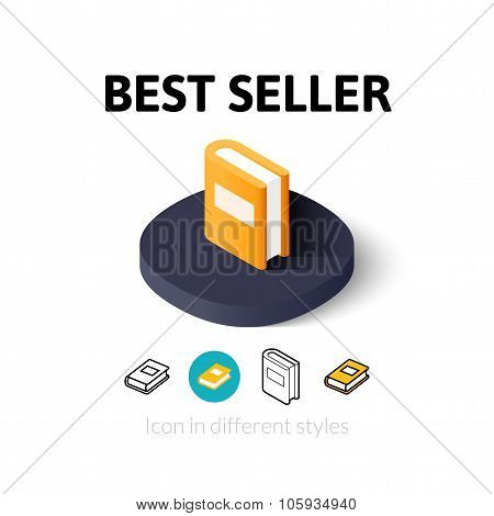 Best seller icon in different style