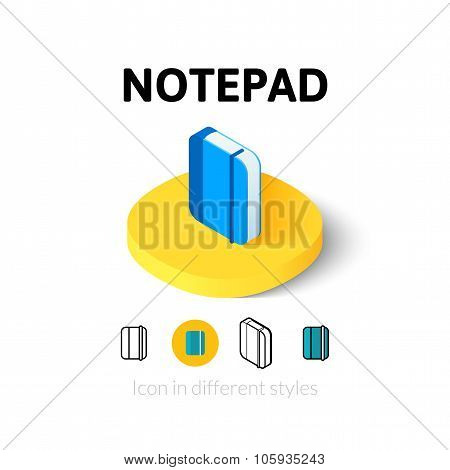 Notepad icon in different style