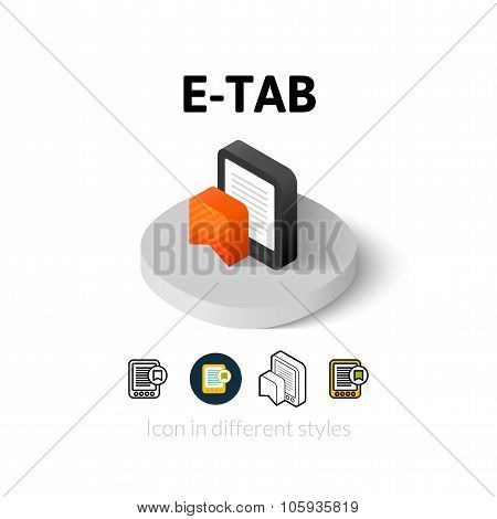 E-Tab icon in different style