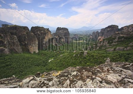 Monastery Of Meteora And Rocks