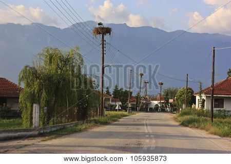 Kerkini Village And Stork Nesting