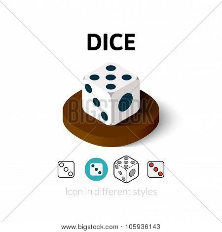 Dice icon in different style