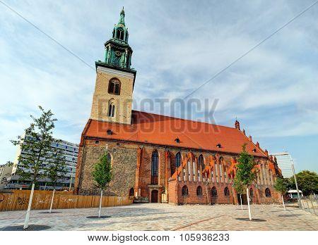 Alexanderplatz In Front Of St. Mary's Church, Berlin