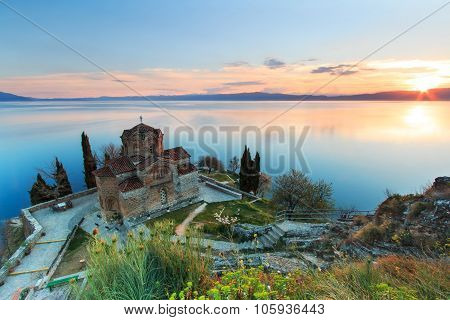 Sveti (saint) Jovan Kaneo Church On Lake Ohrid