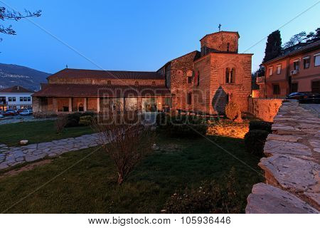 Church Of St Sophia At Dusk, Ohrid