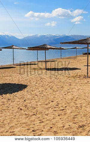 Beach Of Dolno Dupeni In Macedonia, Near Greece Border.