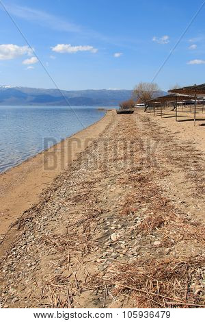 Beach Of Dolno Dupeni In Macedonia, Near Greece Border.