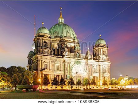 Berlin, Berliner Dom At Night