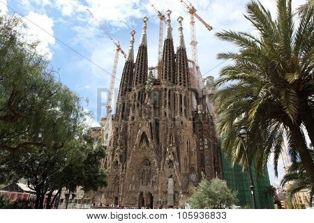 Barcelona Spain - June 9: La Sagrada Familia - The Impressive Ca