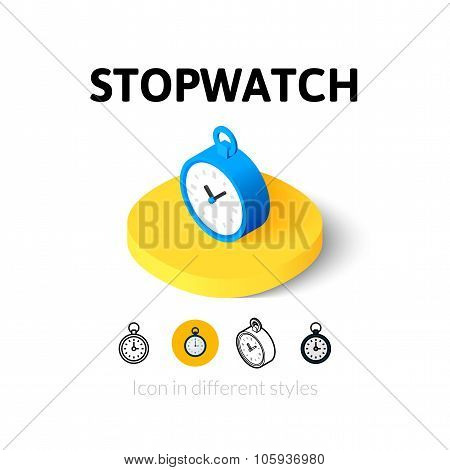 Stopwatch icon in different style