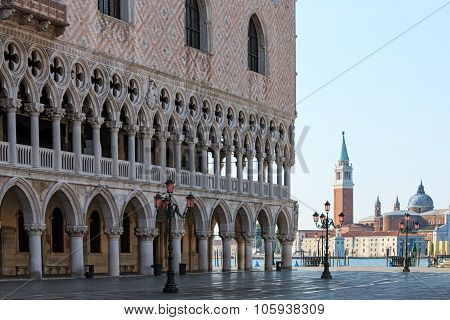 Doges Palace And San Giorgio Venice