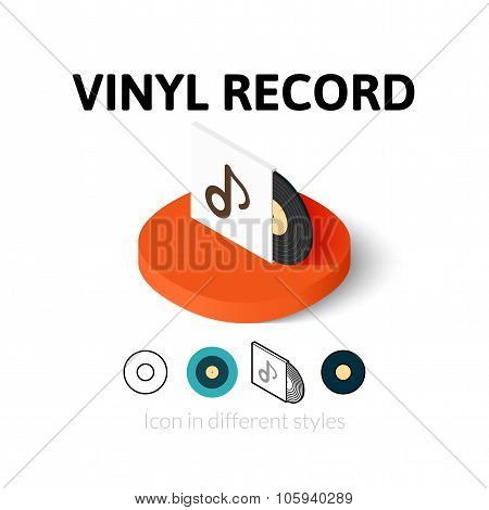 Vinyl record icon in different style