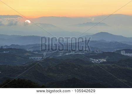 Sunset Over Jiufen, North Of Taiwan