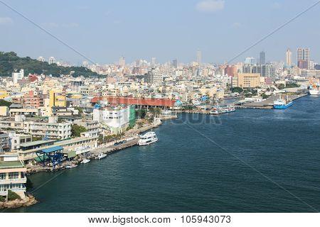 Kaohsiung Harbor In Taiwan
