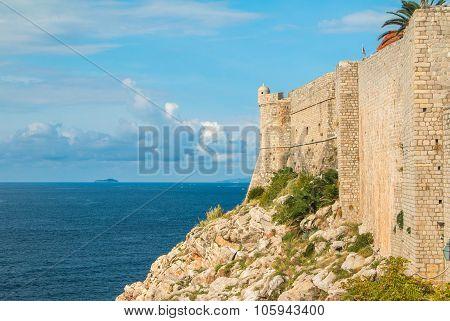Defensive walls of Dubrovnik, Croatia, Adriatic coast, exterior