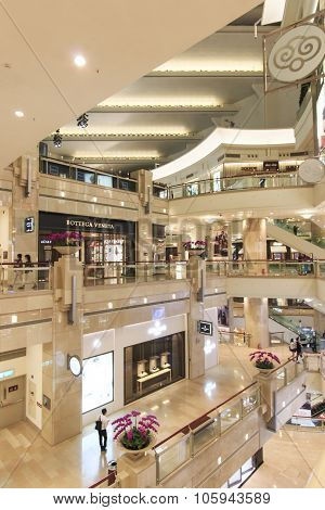 Taipei, Taiwan - August 04,2015: Taipei 101 Mall. The Multi-story Retail Mall Is Home To Hundreds Of