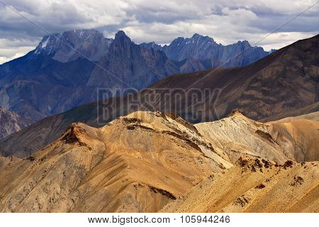 Mountains , Ladakh Landscape Leh, Jammu Kashmir, India.