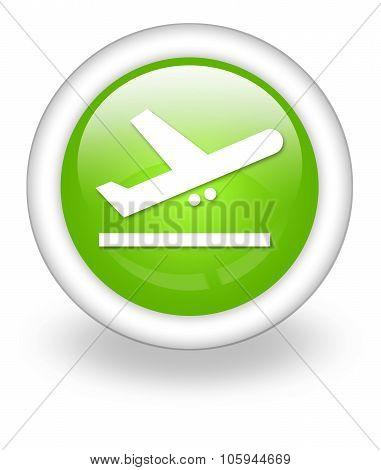 Icon, Button, Pictogram Airport Departures
