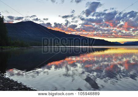 Dawn On A Lake In The Putorana Plateau.