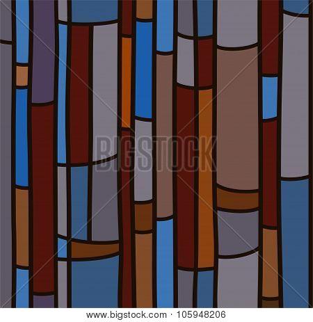 Seamless Background, Blue Sta...