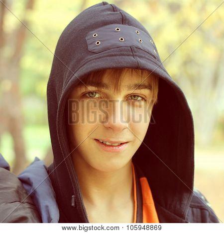 Teenage Boy Portrait Outdoor