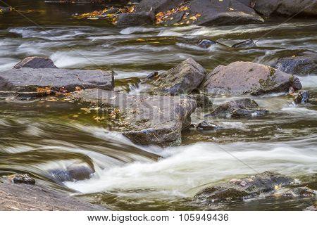 Stream And Rocks In Autumn - Ontario, Caanda