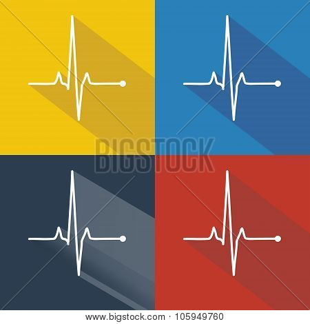 Vector Pulse Icons Set