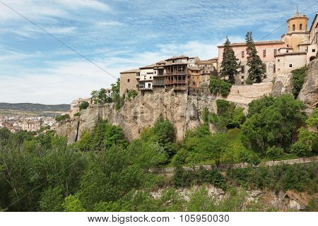 General View Of Cuenca Town In The Morning. Castilla-la Mancha, Spain