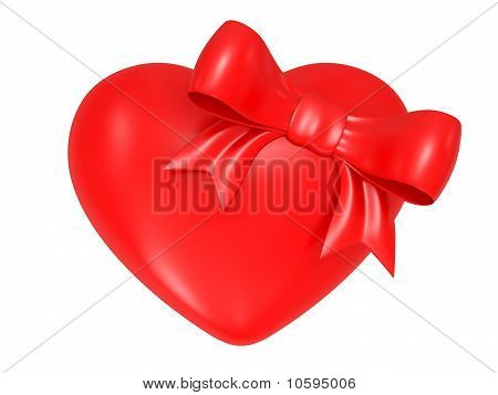 Valentine's Day Symbol, Heart And Bow