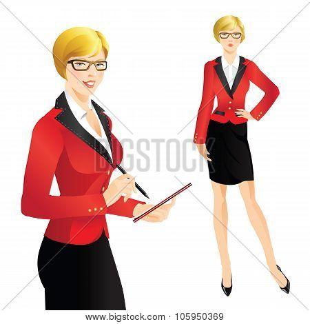 Girl in formal suit