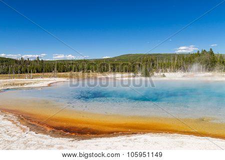 Sunset Lake At Black Sands Basin, Yellowstone National Park